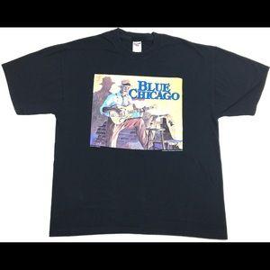 """1994 """"Clark St. Rambler"""" Blue Chicago Men's Shirt"""
